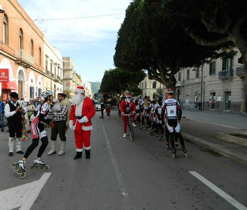 Natale in Via Fardella con i Pattinatori Trapanesi 48